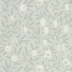 Willow Bloom Home Verbena Grey Blue Wallpaper