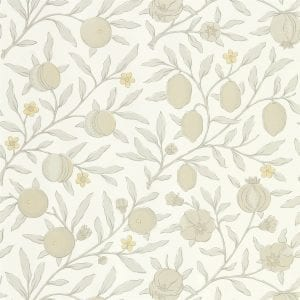 Willow Bloom Home Verbena Poppy Grey Wallpaper