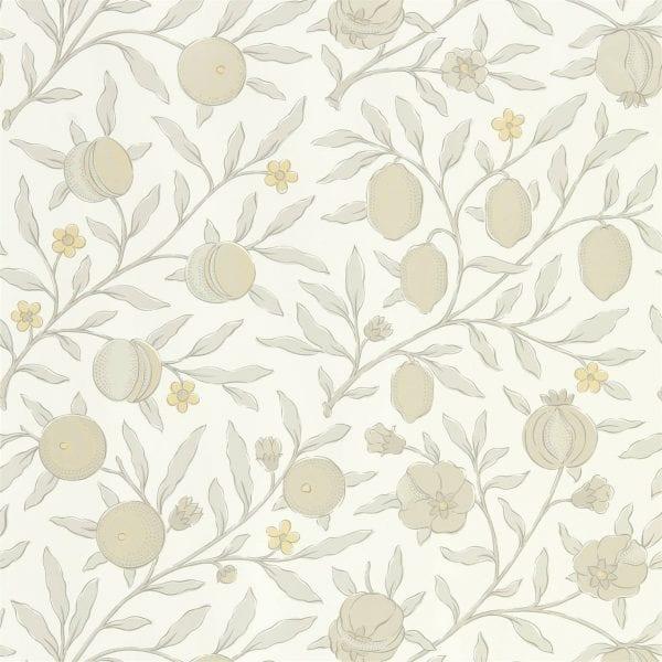Willow Bloom Home Verbena Poppy Grey Wallpaper