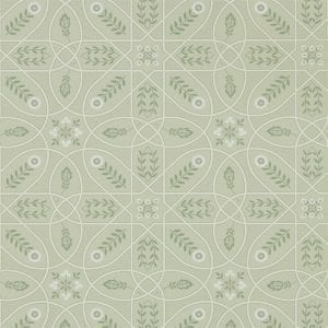 Willow Bloom Home Madlen Sage:Linen Wallpaper