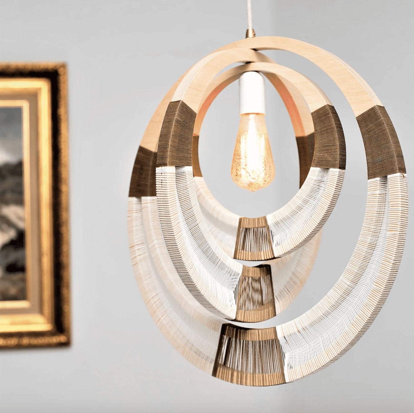 Woven Necklace Pendant Lighting
