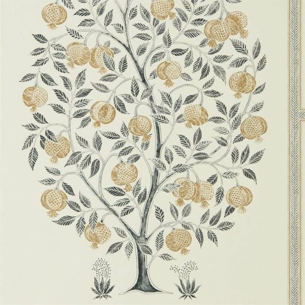 Willow Bloom Home Anaar Tree Charcoal Wallpaper