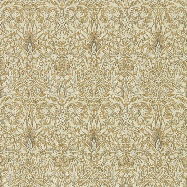 Willow Bloom Home Eden Gold:Linen Wallpaper
