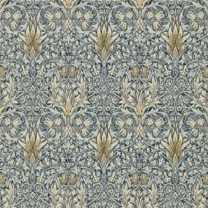 Willow Bloom Home Eden Indigo:Cumin Wallpaper